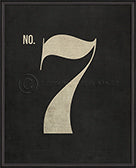 Numbers on Black Print (No. 7)