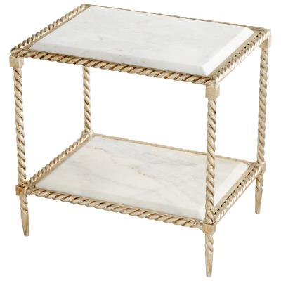 Westminster Side Table | Cyan Design | Trovati Studio | Elegant | White | Marble | Gold