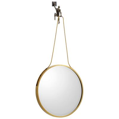 Muscle Man Mirror | Cyan Design | Trovati Studio | Brass | Whimsical