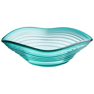 Telesto Bowl | Cyan Design | Trovati Studio | Blue | Aqua | Glass