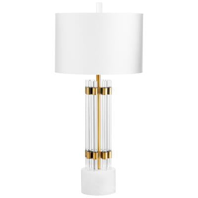Kerberos Table Lamp | Cyan Design | Trovati Studio | White | Glass | Brass