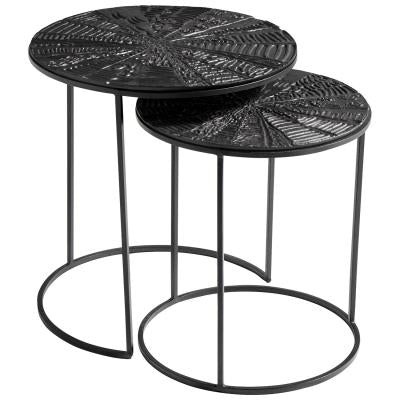 Quantum Nesting Tables | Cyan Design | Trovati Studio | Black | Iron | Aluminum | Set of 2