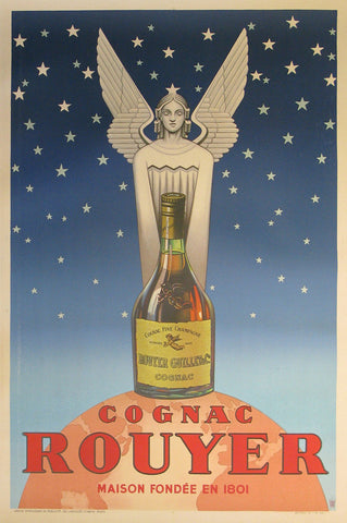 Cognac Rouyer Authentic Vintage Poster