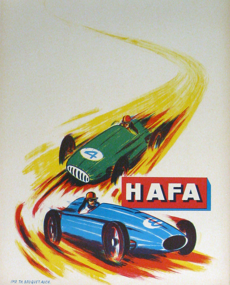Hafa Race Cars Authentic Vintage Poster - Trovati
