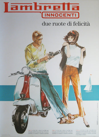 Lambretta Authentic Vintage Poster