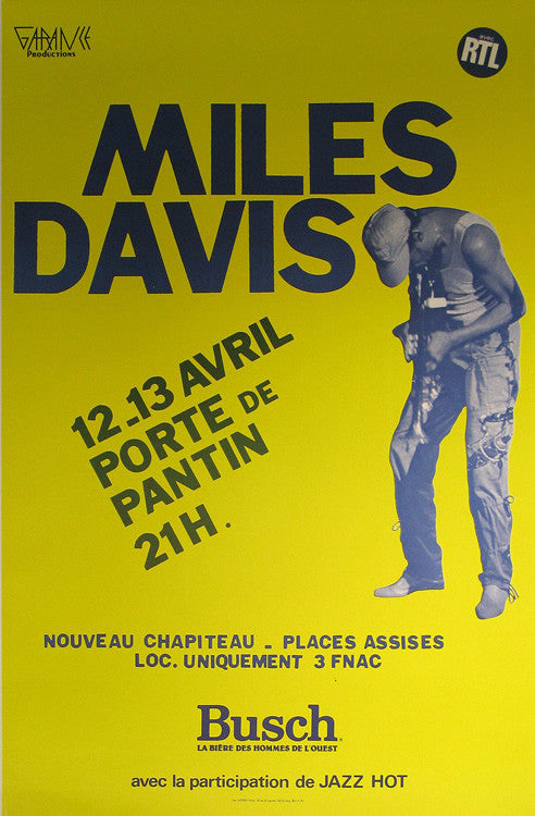 Miles Davis Authentic Vintage Poster by Anonymous