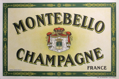 Montebello Champagne Authentic Vintage Poster by Anonymous