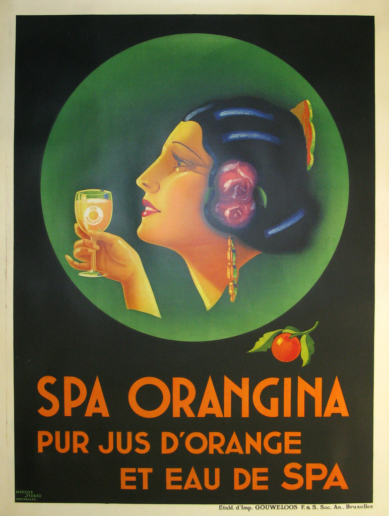 Spa Orangina Authentic Vintage Poster - Trovati