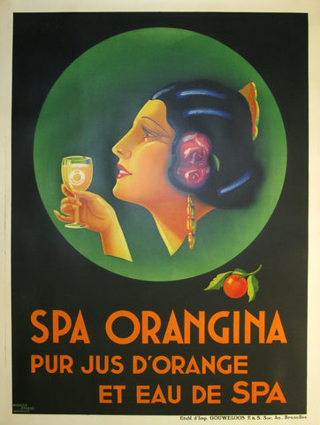 Spa Orangina Authentic Vintage Poster