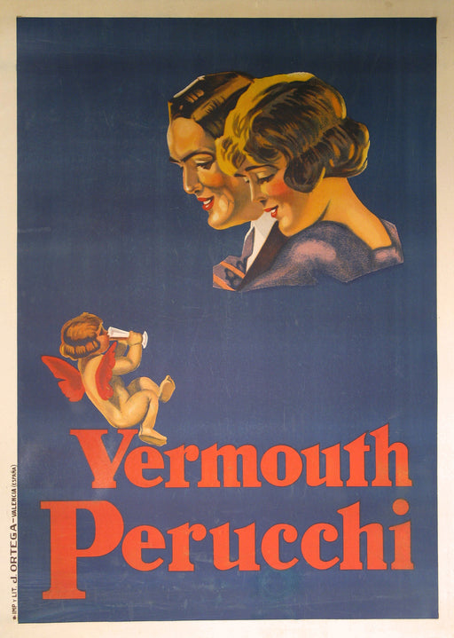 Vermouth Perucchi Authentic Vintage Poster by Anynomous