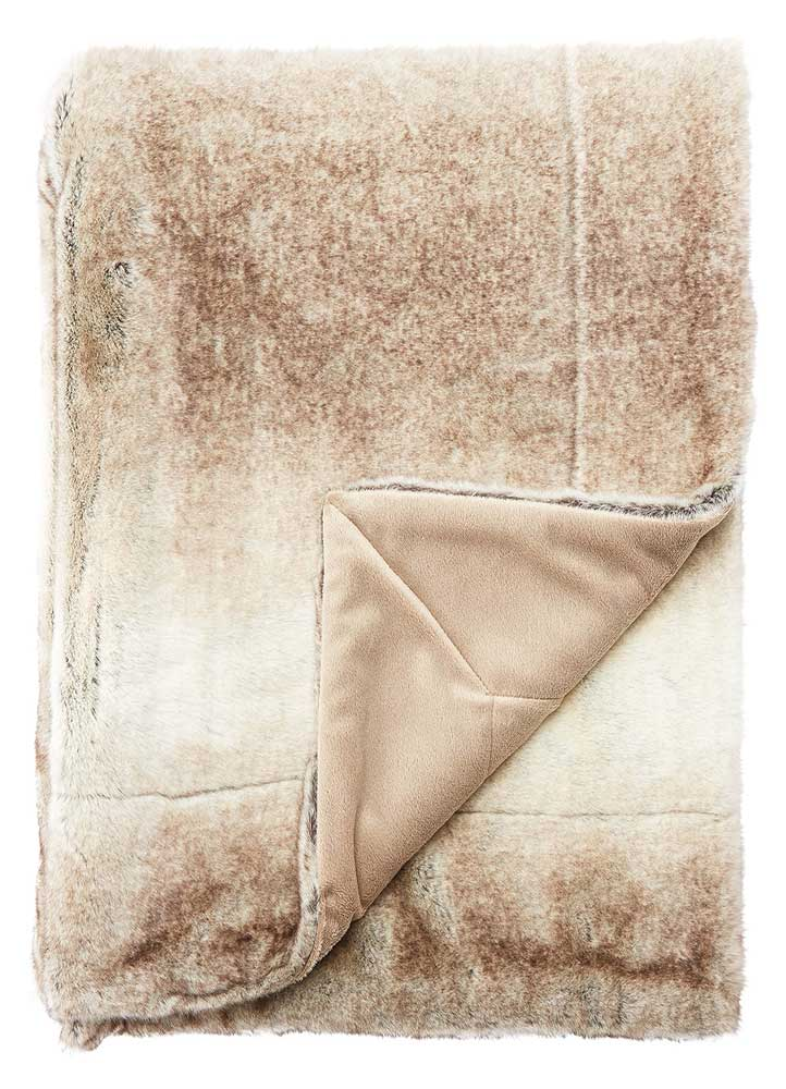 Jaipur Artic Throw - Walnut/Oatmeal