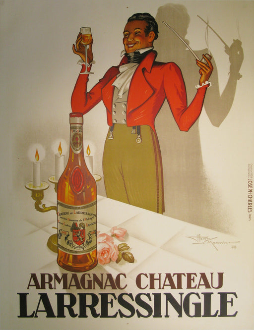 Armagnac Chateau L'Arressingle Authentic Vintage Poster by Henry Le Monnier - Trovati