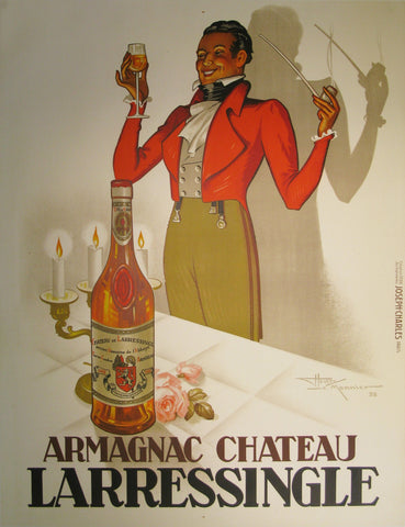 Armagnac Chateau L'Arressingle Authentic Vintage Poster by Henry Le Monnier