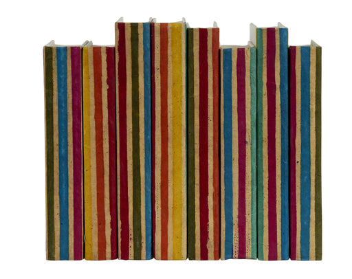 Batik Striped Decorative Books | E.Lawrence Ltd | Trovati Studio