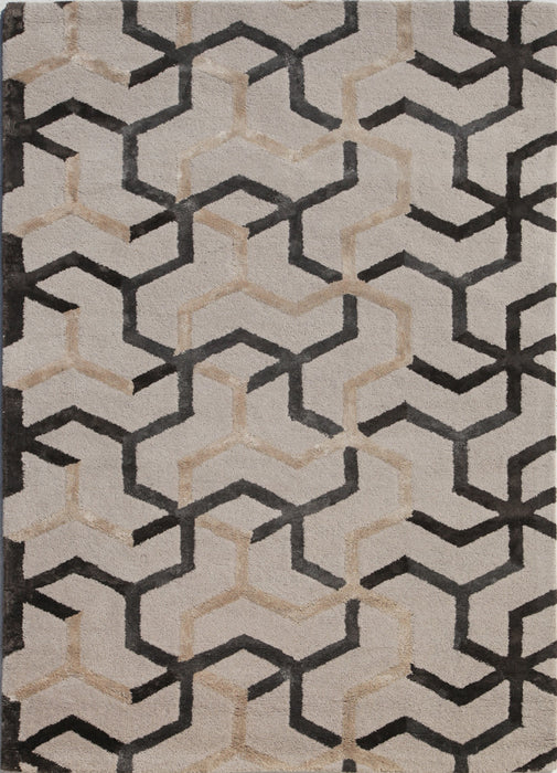Jaipur Addy Rug - Light grey/Tan/Cream  - 1