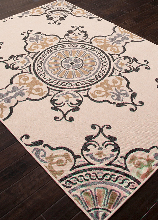 Jaipur Mobile Indoor Outdoor Rug - Tan/Cream/Black  - 4