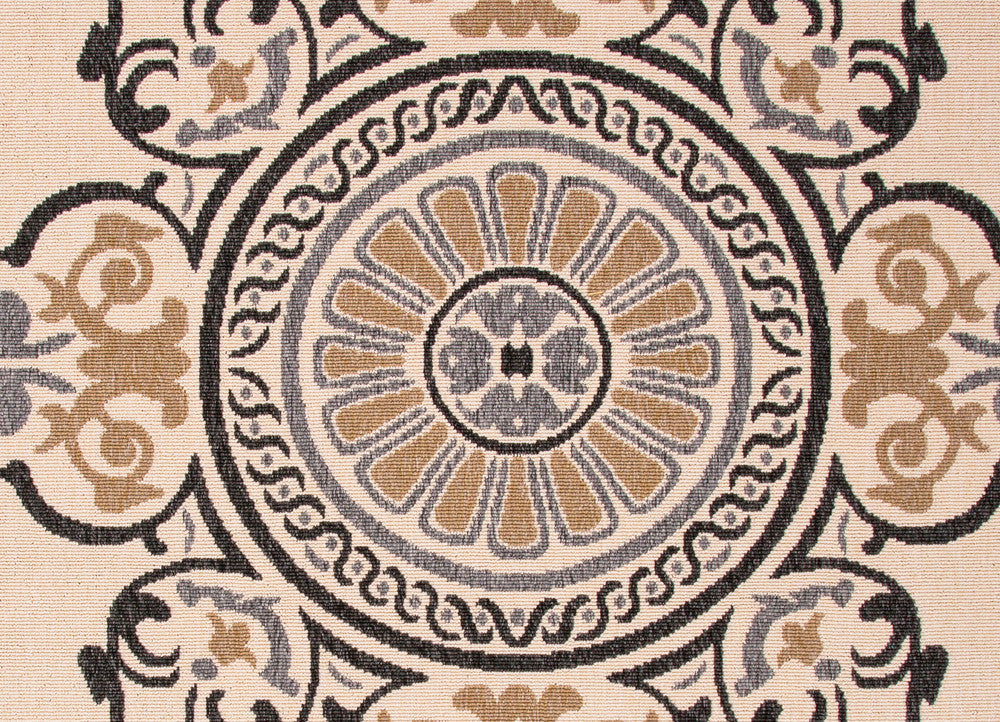 Jaipur Mobile Indoor Outdoor Rug - Tan/Cream/Black  - 2