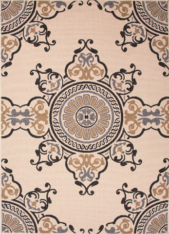 Jaipur Mobile Indoor Outdoor Rug - Tan/Cream/Black