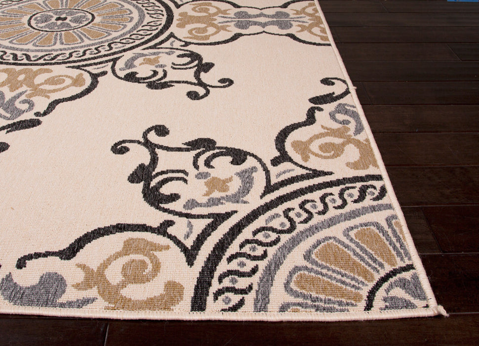 Jaipur Mobile Indoor Outdoor Rug - Tan/Cream/Black  - 3