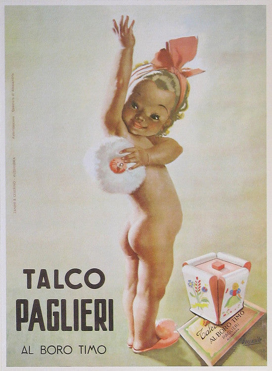 Talco Paglieri Authentic Vintage Poster by Gino Boccasile