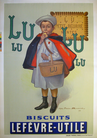 Lu Biscuits Authentic Vintage Poster by Firmin Bouisset
