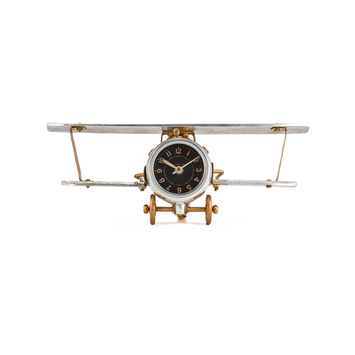 Biplane Table Clock - Trovati