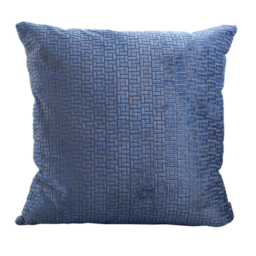 Trovati Decorative Pillow - Velvet Bari Midnight Blue  - 1