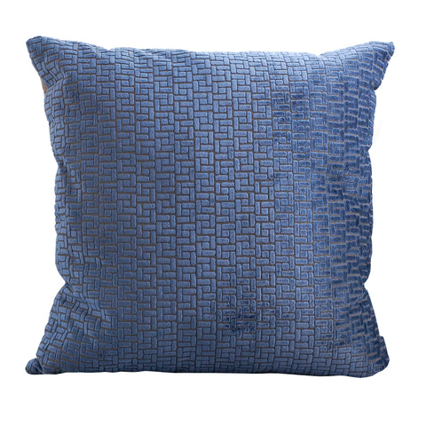 Trovati Velvet Bari Decorative Pillow- Midnight Blue