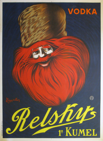 Relsky Vodka Authentic Vintage Poster by Leonetto Cappiello