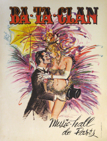 Ba-Ta-Clan Authentic Vintage Poster by Jose Carvalto