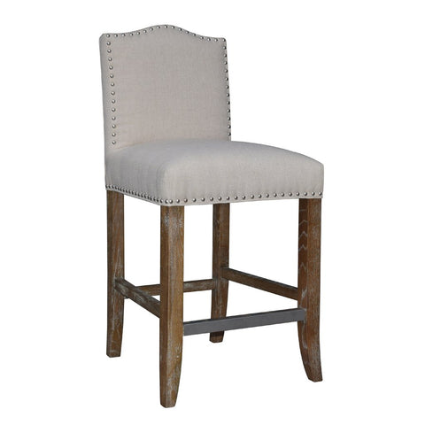 Padma's Plantation Calusa Beach Counter Stool - Brushed Linen