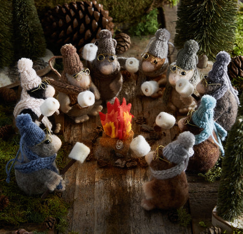Roost Campfire Mole Ornaments S/9