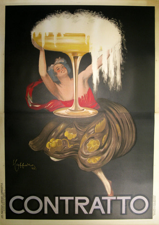 Contratto 2-Sheet Authentic Vintage Poster by Leonetto Cappiello - Trovati
