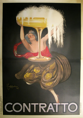 Contratto 2-Sheet Authentic Vintage Poster by Leonetto Cappiello