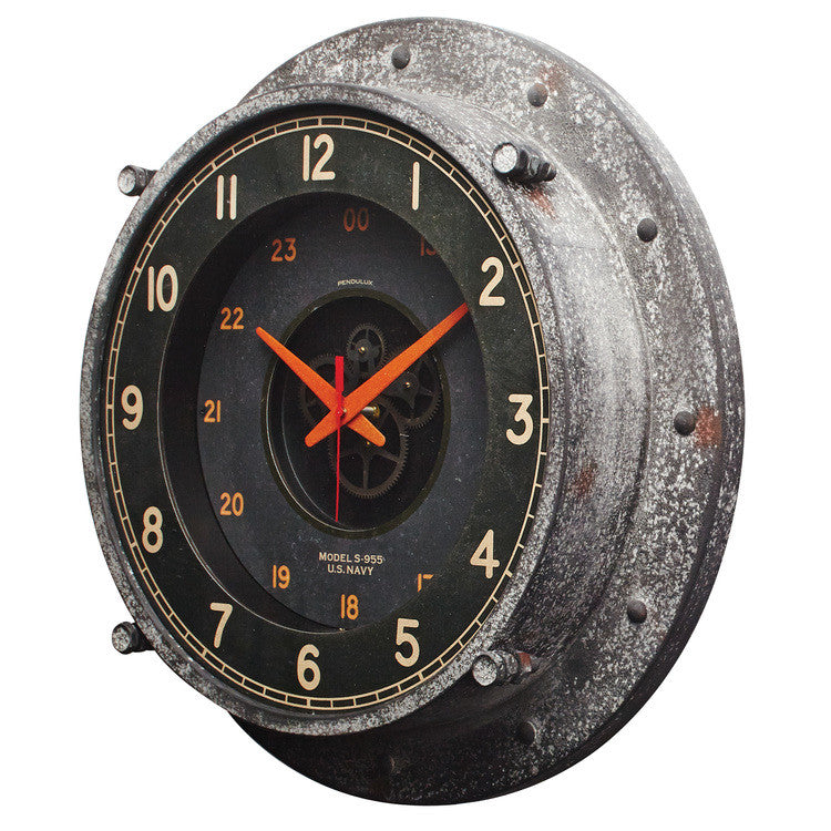 Pendulux Vintage Reproduction Control Room Wall Clock - Trovati