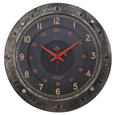Pendulux Vintage Reproduction Control Room Wall Clock
