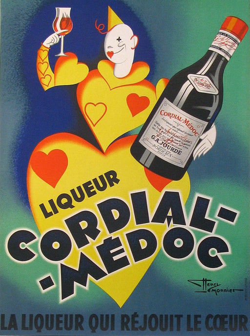 Cordial Medoc Authentic Vintage Poster by Henry Le Monnier - Trovati