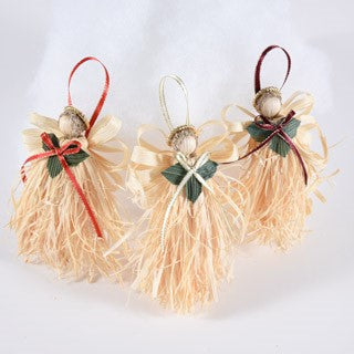 Cornshuck Angel Ornaments | Seasonal Decor | Trovati Studio