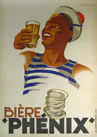 Biere Phenix Authentic Vintage Poster by Leon Dupin
