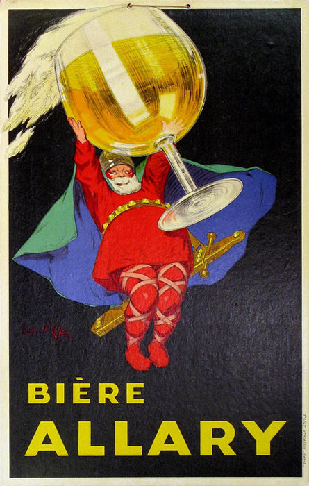Biere Allary Authentic Vintage Poster by Jean D'ylen - Trovati