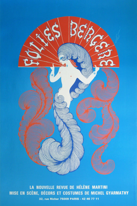 Folies Bergere Authentic Vintage Poster by Erte - Trovati