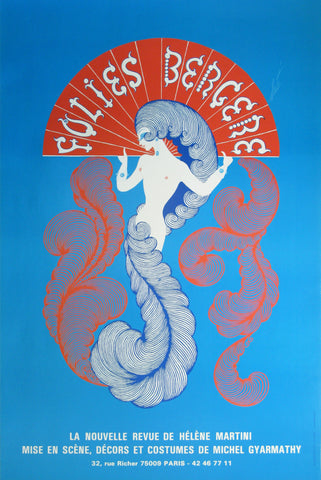 Folies Bergere Authentic Vintage Poster by Erte