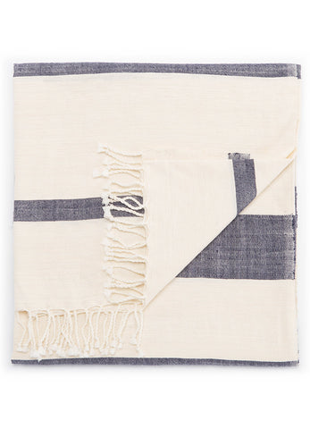 Jaipur Essential Throw - Angora/Insignia Blue
