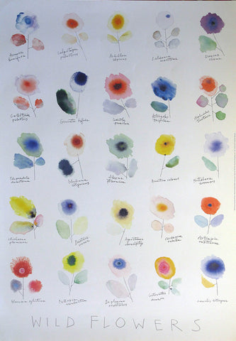 Wild Flowers Authentic Vintage Poster by Alan Fletcher