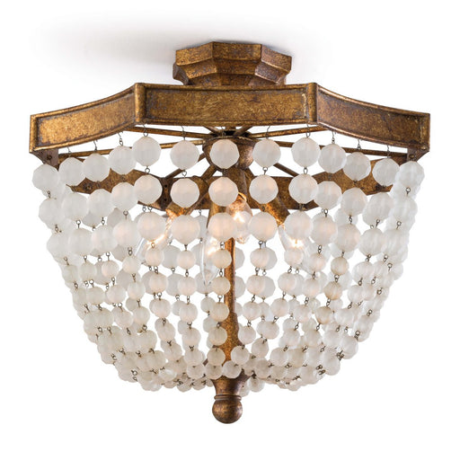 Regina Andrew Design Group Frosted Crystal Bead Semi Flush Mount - Trovati