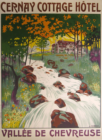 Cernay Cottage Hotel Authentic Vintage Poster by J. Gabriel