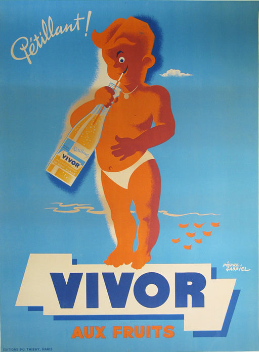 Vivor Authentic Vintage Poster by Pierre Gabriel