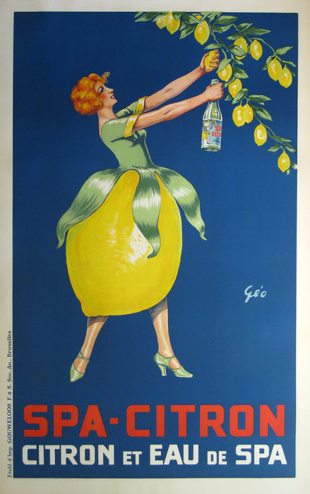 Spa Citron Authentic Vintage Poster by Geo - Trovati