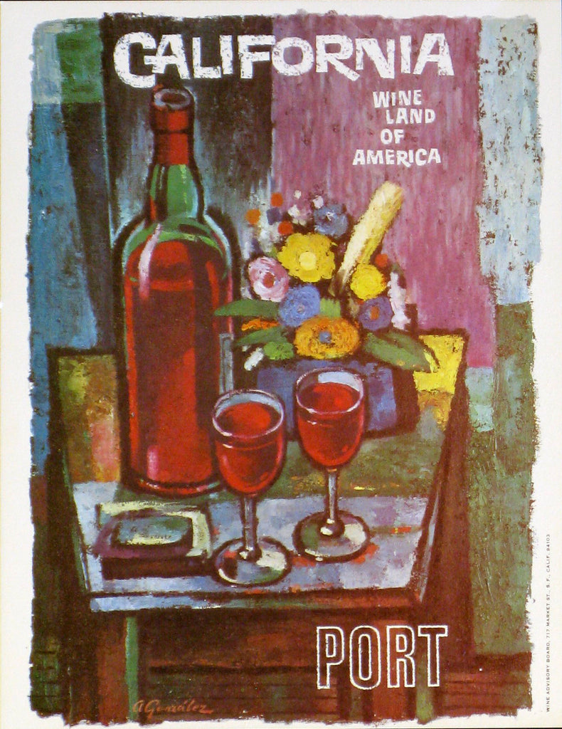 California Wine Land of America - Port Authentic Vintage Poster by Francio E Redman