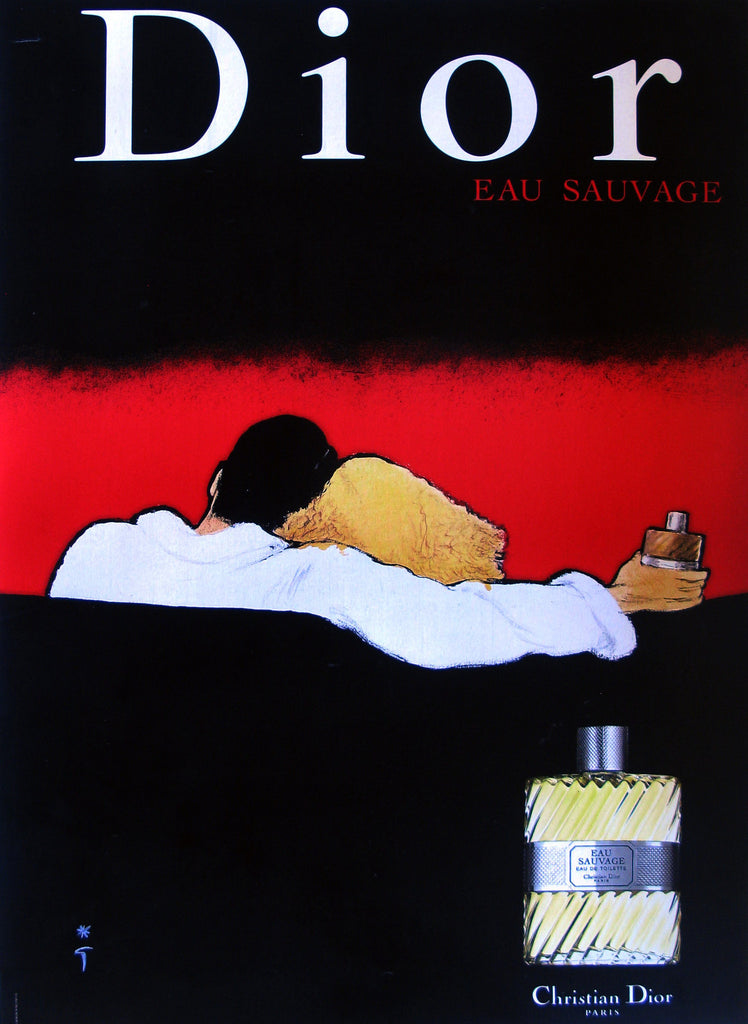 Dior- Eau Sauvage Authentic Vintage Poster by Rene Gruau